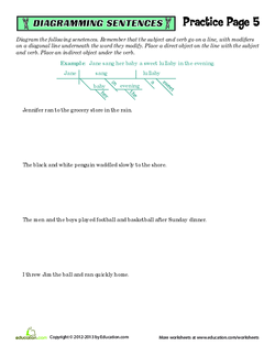 Sentence Diagramming Practice #5