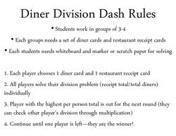 Diner Division Dash game pack