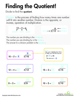 Division: Finding the Quotient