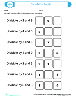 Divisibility Rules Lesson Plan Education Com Lesson Plan Education Com