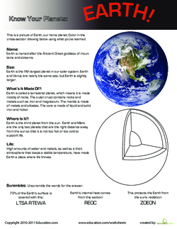 Know Your Planets: Earth