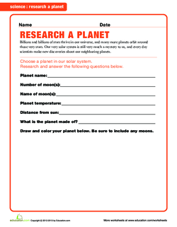 Research Your Planet