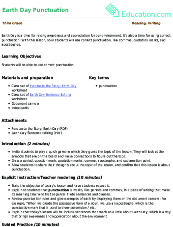 Earth Day Lesson Plans | Education.com