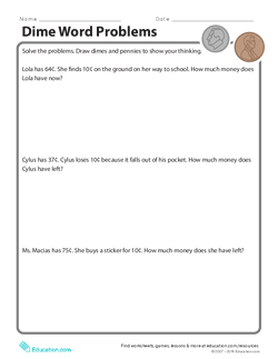 Dime Word Problems