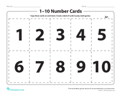 1–10 Number Cards