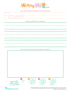 "Jump Into Writing: Write a ""Flower"" Sentence"