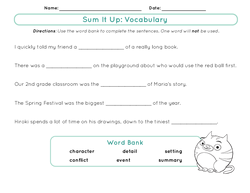 Sum It Up: Vocabulary