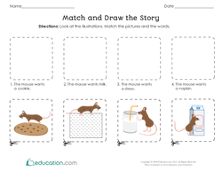 Match and Draw the Story
