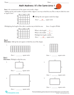 Math Madness: It's the Same Area 1