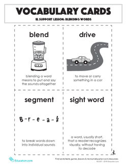 Vocabulary Cards: Blending Words