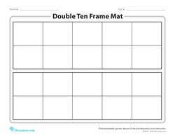 Double Ten Frame Mat