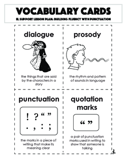 Vocabulary Cards: Building Fluency with Punctuation