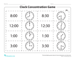 Clock Concentration Game