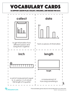 Vocabulary Cards: Collect, Organize, and Discuss the Data