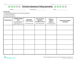 Formative Assessment: Telling Summaries