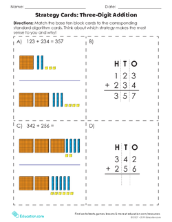 Strategy Cards: Three-Digit Addition