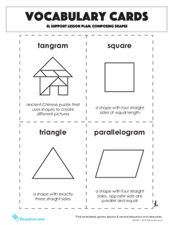 Vocabulary Cards: Composing Shapes