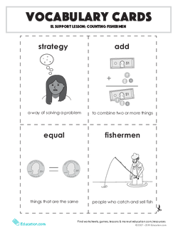 Vocabulary Cards: Counting Fishermen