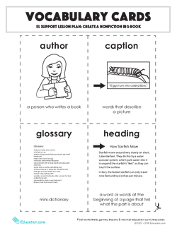 Vocabulary Cards: Create a Nonfiction Big Book