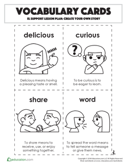 Vocabulary Cards: Create Your Own Story
