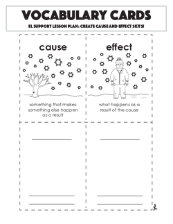 Vocabulary Cards: Create Cause and Effect Skits!