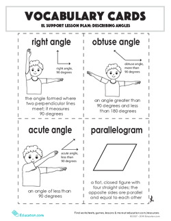 Vocabulary Cards: Describing Angles