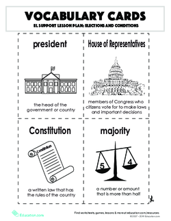 Vocabulary Cards: Elections and Conditions