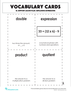 Vocabulary Cards: Explaining Expressions