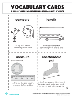 Vocabulary Cards: Exploring Nonstandard Units of Length