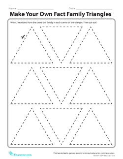 Make Your Own Fact Family Triangles