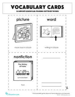 Vocabulary Cards: Figuring Out Tricky Words