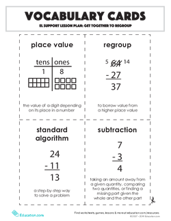 Vocabulary Cards: Get Together to Regroup