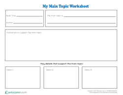 Main Topic Worksheet