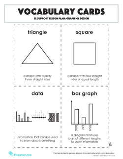 Vocabulary Cards: Graph My Design