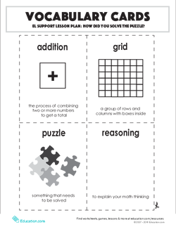 Vocabulary Cards: How Did You Solve the Puzzle?