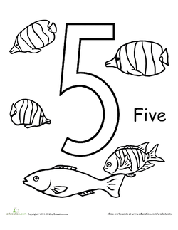 Count and Color: Five Fish