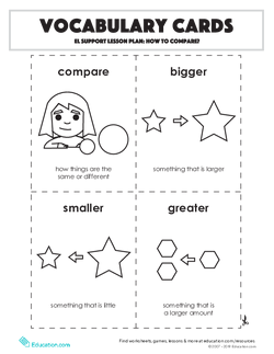 Vocabulary Cards: How to Compare?