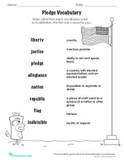 Pledge Vocabulary