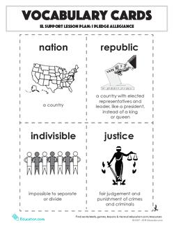 Vocabulary Cards: I Pledge Allegiance