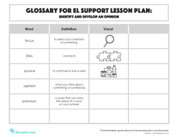 Glossary: Identify and Develop an Opinion