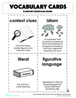 Vocabulary Cards: Idioms
