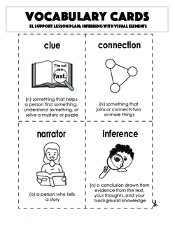 Vocabulary Cards: Inferring with Visual Elements