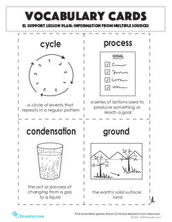 Vocabulary Cards: Information from Multiple Sources