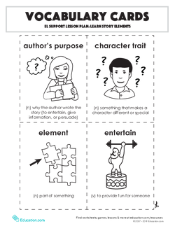 Vocabulary Cards: Learn Story Elements