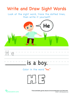 Sight Words: He