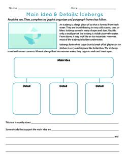 Main Idea & Details: Icebergs