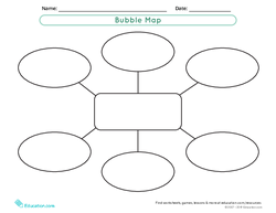 Graphic Organizer Template: Bubble Map