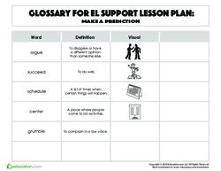 Glossary: Make a Prediction
