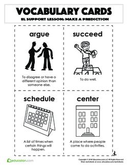 Vocabulary Cards: Make a Prediction