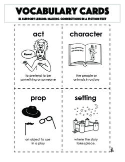 Vocabulary Cards: Making Connections in a Fiction Text
